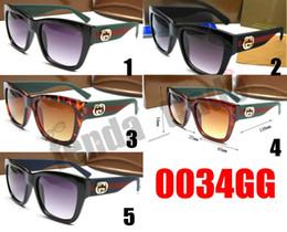 occhiali da sole brandnew di lusso Sconti VENDITA CALDA NUOVA Promozione Lusso italia 0034 occhiali da sole donne di marca di moda grande cornice quadrata occhiali da vista di lusso designer 5 colori 10 pz