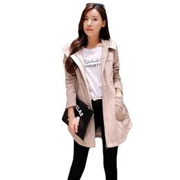 94cd147847f Autumn And Winter Windbreaker For Women Trench Coat Hooded Cotton Long  Casual Female Spring Coat Khaki Green Pink Rose Red S-XL