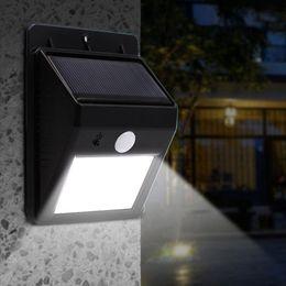 Le mur solaire de 20 LED allume l'éclairage de sécurité extérieur de lampe de jardin de capteur de mouvement de PIR ? partir de fabricateur