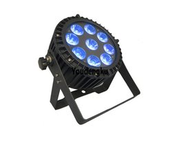 Wholesale 5in1 Led Par - 8 pieces stage dmx led lighting outdoor waterproof 9X15W 5in1 RGBWA par 64 led light