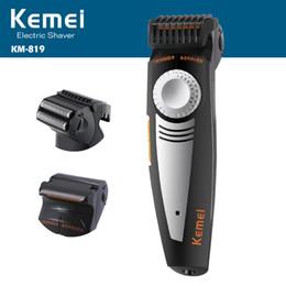 Wholesale Men Razors - kemei rechargeable electric shaver 3D beard shaver kemei electric razor hair trimmer face care men shaving machine