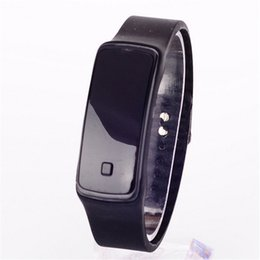 Wholesale Touch Watches Sale - 2018 hot sale Women Men Kids Casual Wristwatch Candy Color Sport LED Watch Silicone Rubber Touch Screen Digital Watches