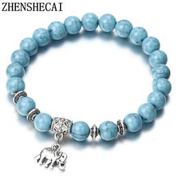 besten ring stein für männer Rabatt 2018 Armband Klassische Naturstein Blau Perlen Armbänder für Männer Frauen Beste Freund Heiße beliebte A56