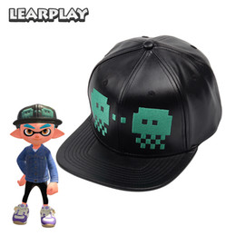 e985503283d7b flat bill baseball caps Promo Codes - ccessories Hats Splatoon 2 Skalop  Jellyvader Hats Black Leather