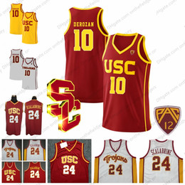 9f7949327 NCAA USC Trojans  24 Brian Scalabrine 10 DeMar DeRozan Jersey Vintage  Yellow White Red Gold Retro College Basketball Jerseys S-3XL