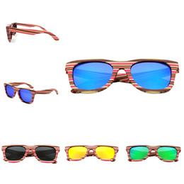 chica de gafas de madera Rebajas Cool Sunglasses Mujeres 2018 Hombres Chica Redondo Polarizado Eyewear UV400 Protección Colorido Marco de madera Outdoor Eyeglasses Gafas
