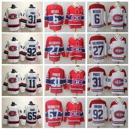 Wholesale Maurice White - 2018 Montreal Canadiens 31 Carey Price Jersey 9 Maurice Richard 100 Classic Ice Hockey Jerseys 4 Jean Beliveau 14 Tomas Plekanec Shea Weber