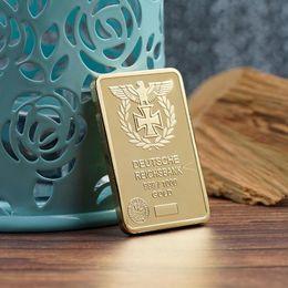 Canada Livraison gratuite, 1 oz d'or allemand FER FER CROSS BAR Deutsche Reichsbank COIN 999 1000 Aigle lingots bar cheap eagle gold coins Offre
