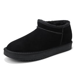 2018 neue stil männer schnee stiefel herbst winter männer qualität casual flache schuhe komfortable braun grau mann mode stiefeletten von Fabrikanten