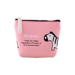 Wholesale Cartoon Girls Phone Case - Wholesale- Boys Girls Cute Cartoon Animal Coin Purse Wallet Bag Change Pouch Key Holder Clutch Wristlet Wallet Bag Phone Key Case Makeup