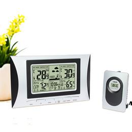Double compteur de température en Ligne-Multifonctionnel sans fil intérieur Température extérieure Humidité Compteur Couleur Led Station Météo Prévisions Double Réveil avec calendrier H102G