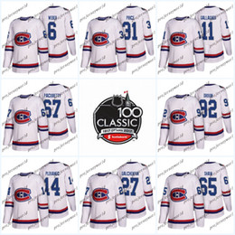 f22541edb50 Youth 100th Classic Patch 92 Jonathan Drouin Montreal Canadiens Jerseys 31  Carey Price 6 Shea Weber 11 Brendan Gallagher Ice Hockey Jerseys