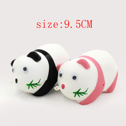 Wholesale Toys Hang Phone - Wholesale 9cm Squishies panda animal face simulation model bread cake cute mobile phone hang ornaments slow rebound children's toy gifts
