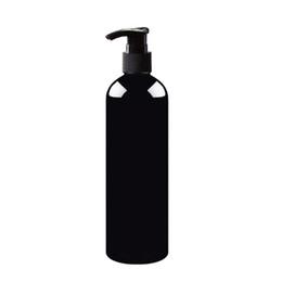 Wholesale Dispenser Pump Spray - 20pcs 500ml empty lotion pump bottles black,PET cosmetic container with liquid soap dispenser,amber spray refillable bottle