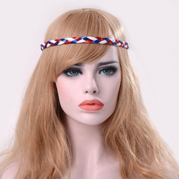 Wholesale Mixed Color Wigs - hot The new national flag series of elastic braids will be worn by fans of the 2018 World Cup.