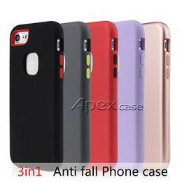 Wholesale cellphone shockproof - Latest Designer Phone Cases 3 in 1 Hybrid Defender Case For iPhone X 8 7 6 Plus Shockproof Cellphone Case
