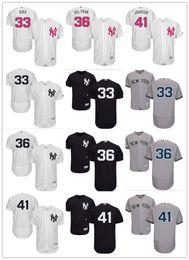 Wholesale randy custom - custom Men's Women Youth Majestic NY Yankees Jersey #41 Randy Johnson 33 Greg Bird 36 Carlos Beltran Baseball Jerseys