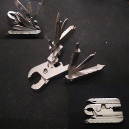 ferramenta de combinação dobrável Desconto Alicate multifuncional Ao Ar Livre Gadget Keychain Cortador de Combinação Ferramenta EDC Dobrável Alicates 15 em 1 Chave De Fenda Abridor de Garrafa Livre DHL G852F