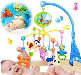 Wholesale Project Blue - Baby Toys Projecting Rotating Musical Bed Hanging Baby Rattles Crib Mobile Holder Mobile Bed Bell For 0-12 Months 100 Music