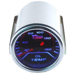"""DHL 20 PCS 2 """"Medidor de Temperatura Do Óleo 2"""" (52mm) Fumaça Len 40-150 C Medidor de Temperatura do Óleo Cree Pointer / Auto Gauge / Medidor de Carro ferramentas de Diagnóstico Do Motor Do Carro de"""