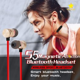 Wholesale Pack Plus - For Iphone X 8 Plus Magnetic Bluetooth Sport Earphone Headphones Earphones Wireless Running Headset With Mic MP3 Earbud Stereo With Pack