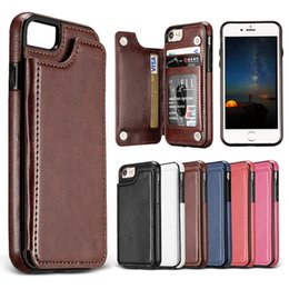 Wholesale iphone back pocket - PU Leather Back Cover Wallet Case For Samsung S9 S9 Plus Note 8 S8 S8 Plus iPhone X 8 7 Plus OPP Package