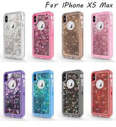 2019 nexus bolsas 3 en 1 Bling Glitter Liquid Quicksand Funda Carcasa Crystal Defender para iPhone X Xr Xs Max 8 7 6 S Plus Samsung Note 8 S8 S9 Plus