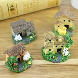 manualidades para la decoración de la casa Rebajas Resina linda del musgo Animal House Micro adornos DIY artesanías de resina creativa jardín de hadas de la cabaña decoración