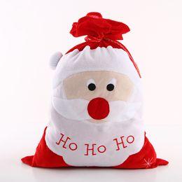 Grand père noël en Ligne-Veille De Noël Décor Cadeaux Sacs Santa Claus Bas Grand Rouge Creative Tuba Réutilisable Stockage Cadeau Sac Maison 12 8mg jj
