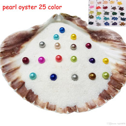 Wholesale fresh movies - 2018 DIY Akoya Pearl Oyster Round 6-7mm 25Colors freshwater natural Cultured in Fresh Oyster Pearl Mussel Farm Supply PP055