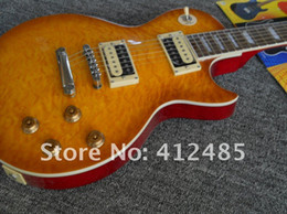 Wholesale slash body yellow - Free shipping G-cusTom shop LP STANDARD Pale brown Slash yellow Electric Guitar
