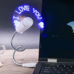 usb привел змеиный свет Скидка Usb мигающий слово вентилятор оригинальность Diy мини змея форма прохладный гаджеты новый прочный регулируемый гаджет Гибкие светодиодные вентиляторы 10sx гг