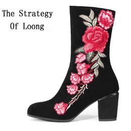 Frühling Herbst Winter Crude High Nubukleder Mode High-End Komfort Frau  Stiefel Lady Plus Size High Heels Echtes Leder Stiefel nubuk-fersen Angebote 6f856d494f
