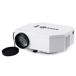 Wholesale Vga Media - UC30 Mini LED LCD Projector 150Lux 640 x 480 Pixels 500:1 1080P Portable Home Media Player AV   VGA   USB SD HDMI MicroUSB