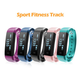 Wholesale Calorie Counter Tracker - New ID115 Smart Bracelet Bluetooth Band Fitness Tracker smartwatch watch Wireless Sleep Monitor Activity Step Distance Calorie Counter