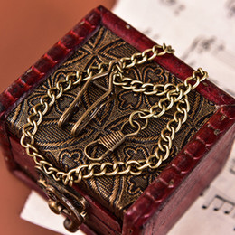 Chaîne de montre de poche en alliage de bronze pour montre de poche vintage à quartz antique ? partir de fabricateur