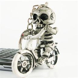 bolsa de corrente de borracha Desconto Corrente chave do presente de borracha Keyring criativo popular do keyring de KeyChain do saco da bolsa do crânio da bicicleta