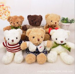 Wholesale High End Dolls - 2018 new real products high quality plush toy retro sweater teddy bear doll high-end gift 50CM Christmas promotion!