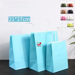 Argentina Zapatos de tela de moda Bolsas de papel de regalo Sky Blue Kraft Bolsa de papel Bolsa de compras Cumpleaños de la boda Regalo de fiesta de año nuevo de Navidad Bolsas Suministro