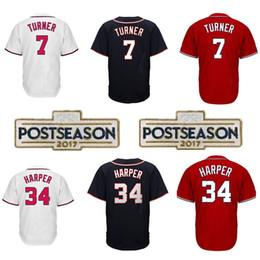 Wholesale High Cool - Men's Adult 34 Bryce Harper #7 Trea Turner Jersey Cool Base Player Jerseys Baseball jersey High-quality Embroidery Logos 100% Stitched