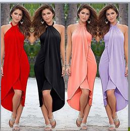 Vestido indio sin mangas online-Indian Sari Dresses Dress Sari Women Clothing 2017 Cotton Best-selling Europa y el nuevo estilo caliente sin mangas Long Neck Sexy