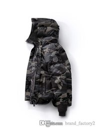 Wholesale Parka 3xl - Qulity Goos Brand Design Hooded Men Down Coat Luxury 86320 Thicken Down Jacket Canada Camouflage Parkas 7 Colors Coats