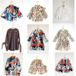 Wholesale 18 Month Winter Dress - wolf rita kids clothing set 2017 autumn winter long sleeve boys girls shirt pant dresses for girls baby children clothing