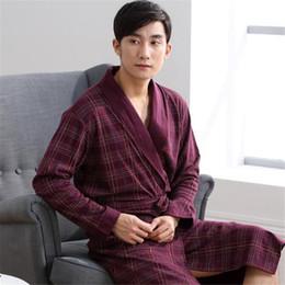 5a4907e028 Man Robes Full Thin Cool Male Soft Long Sleeve Home Wear Bathrobes Casual  Spring Summer Autumn 2018 A5310