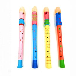 Fornecer comércio exterior de alta qualidade clara cor verniz de madeira flauta de madeira clarinete instrumento musical brinquedo inteligente de Fornecedores de taiwan c