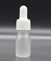 Canada Flacon compte-gouttes en verre transparent dépoli de 5 ml avec une bouteille en verre avec couvercle en or blanc et noir et une huile essentielle en verre transparent mat pour vape ejuice eig Offre