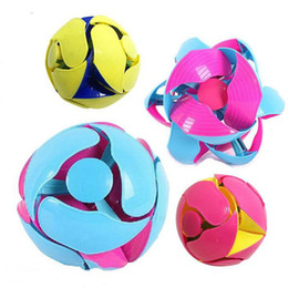 Wholesale color changing flowers - Hand drop throwing magic Ball magic flowering stretch ball children throw in the air will change color shape Flower ball toys