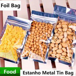 2019 embalaje para baterías de teléfonos celulares 7.7x10cm translúcido reel sellado bolsa de envasado a prueba de papel de aluminio con cierre de cremallera Food Snacks regalo vitrina paquete de laminación de sello térmico