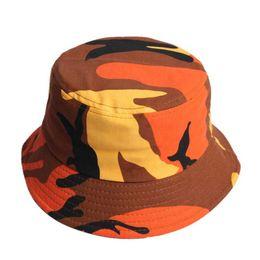 Sombreros planos de algodón para adultos Hombres Mujeres Chapeau Sombrero  de camuflaje de moda Sombreros de pescador Sombreros de playa de protección  solar ... 6c500f26a95
