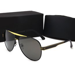 6dc8dd651a hot Top quality Brand Designer Men Polarized Sunglasses Men Alloy frame  Polaroid Mirror Lens driving glasses Eyewear with cases and box